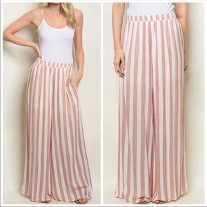 Pants - Beautiful earth colored striped palazzo pants